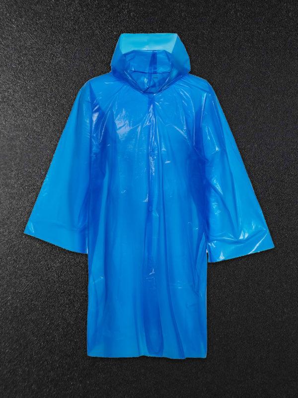 Дождевик-плащ полиэтиленовый синий