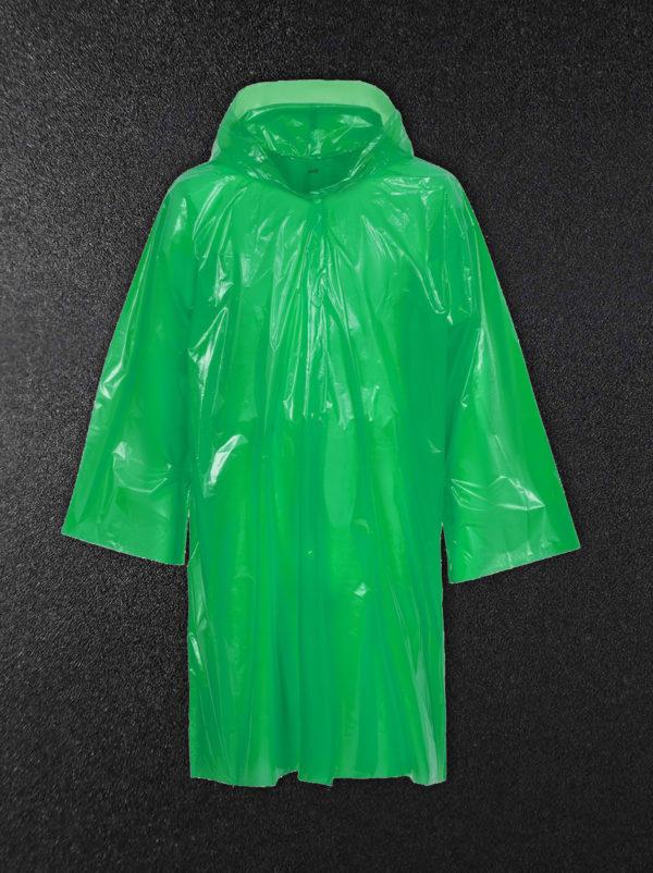 Дождевик-плащ полиэтиленовый зеленый