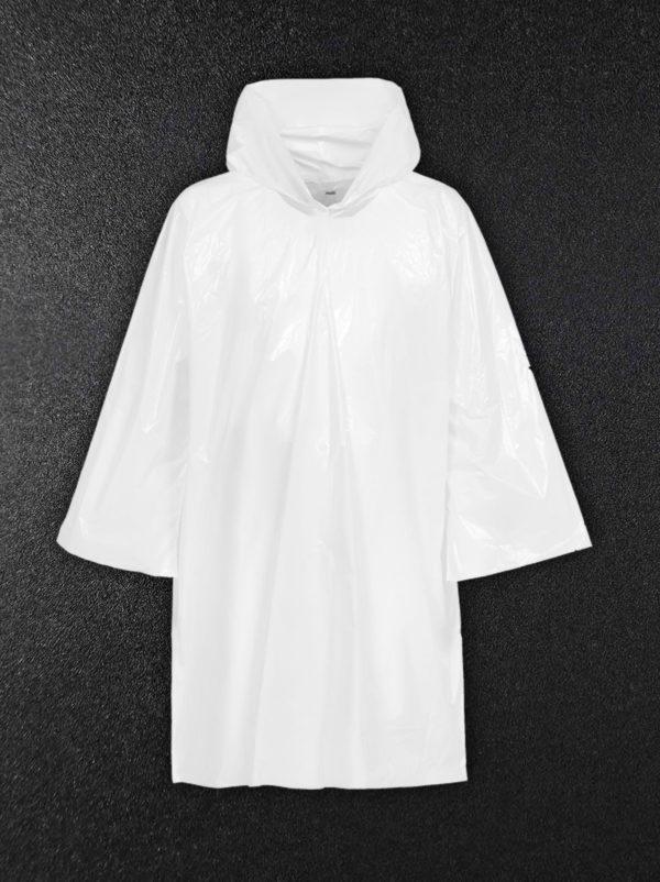 Дождевик-плащ полиэтиленовый белый