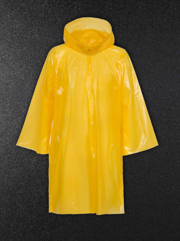 Дождевик-плащ полиэтиленовый желтый
