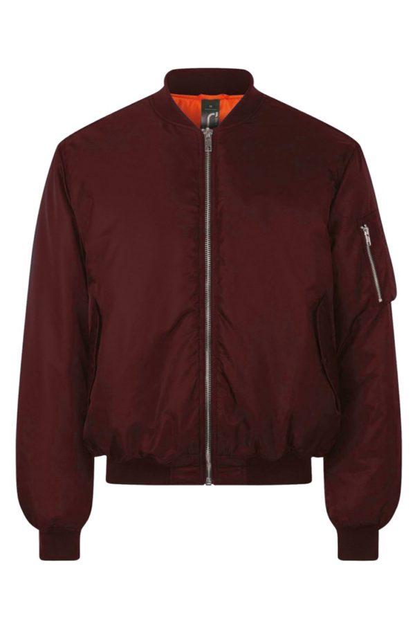 Бомбер куртка (бордовый)