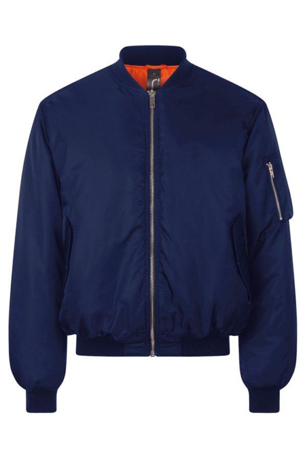 Бомбер куртка (синий)