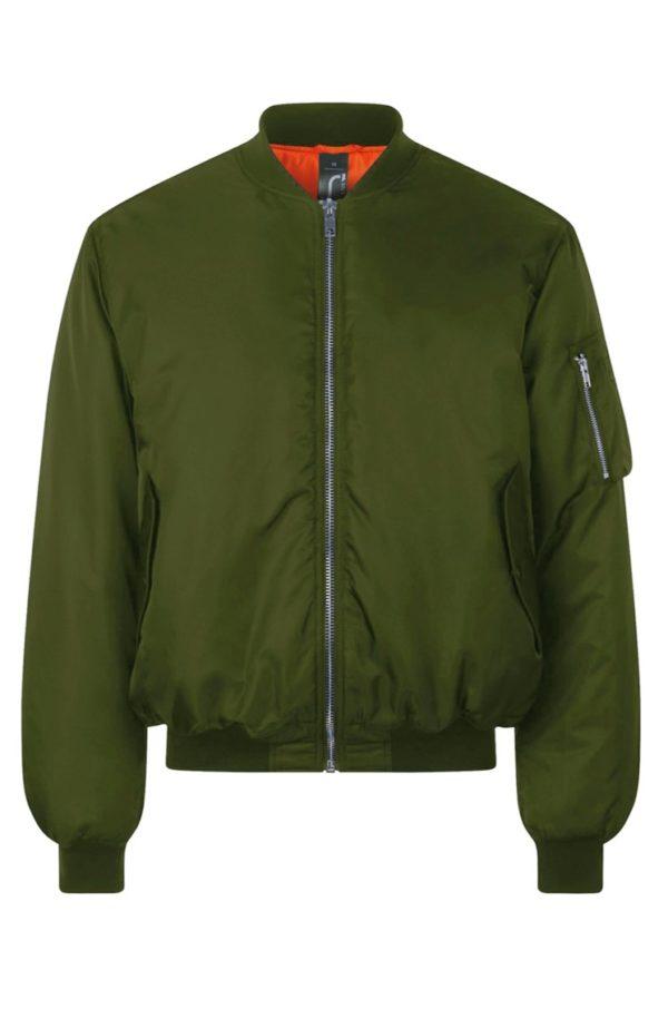 Бомбер куртка (хаки)