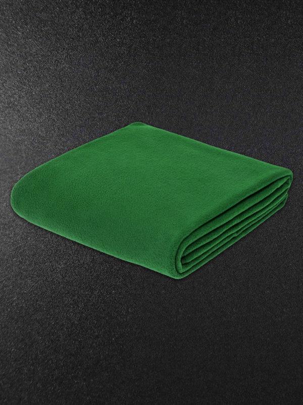 Плед флисовый зеленый
