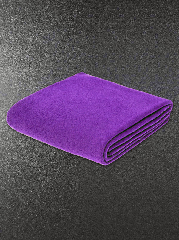 Плед флисовый фиолетовый