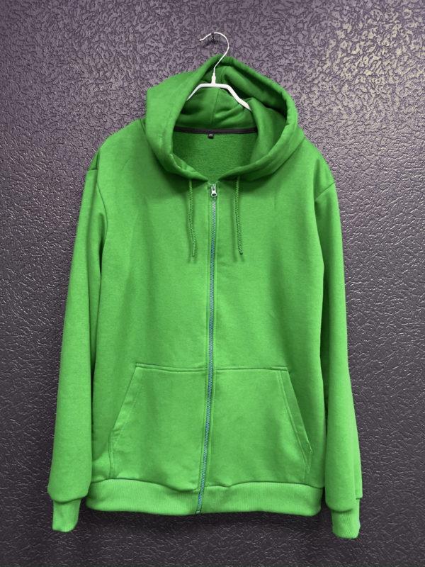 Худи на молнии (зеленое)