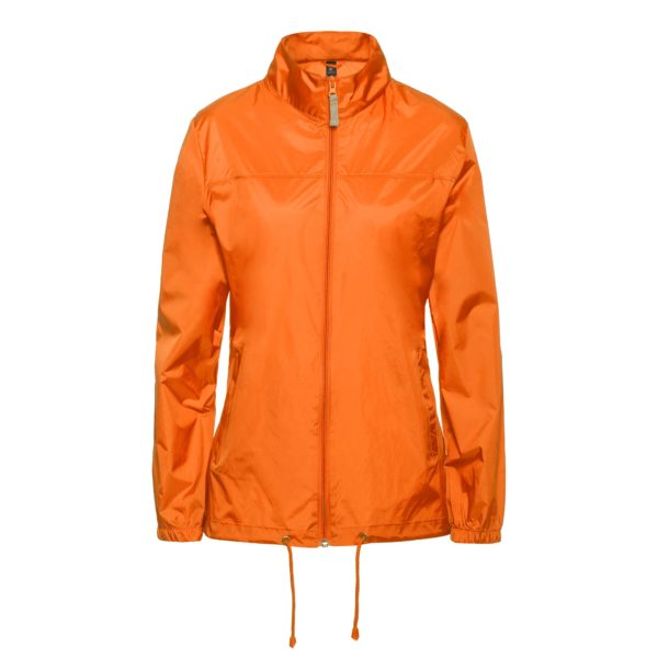 Ветровка женская оранжевая
