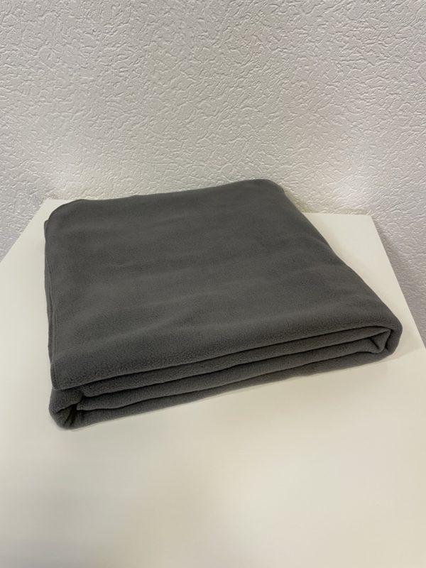 Плед флисовый серый 220 гр